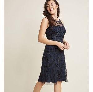 NWT Adrianna Papell Beaded A-Line Dress